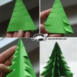 Decoration de noel en papier origami