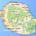Carte routiere ile de la reunion